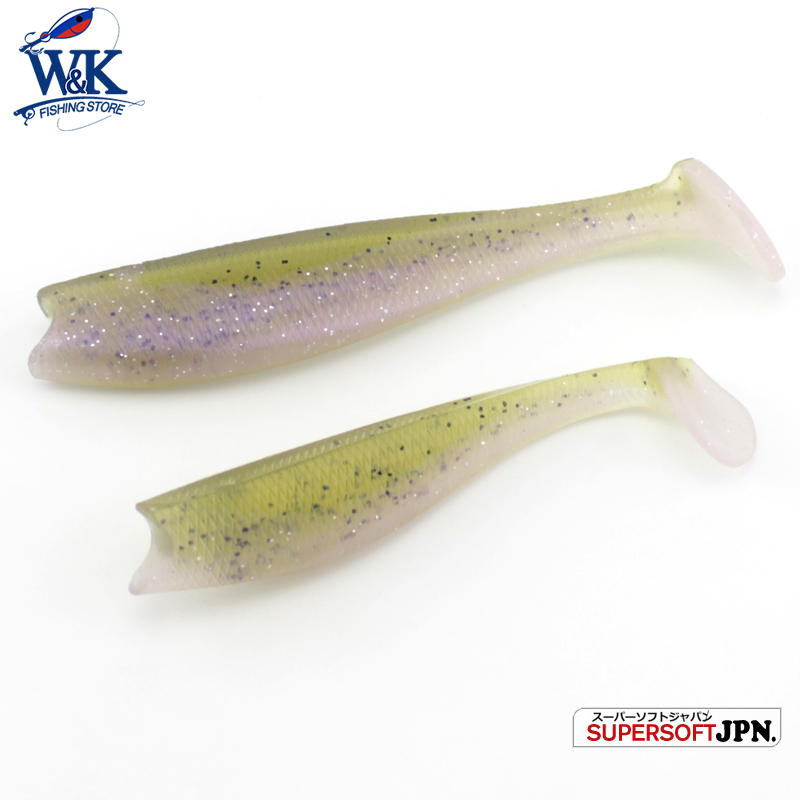 "Hot-Sale 11 cm PRO Swimbaits Tail Tail Shad Lure 4.3 ""Lure lembut untuk Pike Cod Bass Memancing Tips Bait Soft Vinyl Lures 4pcs / lot"