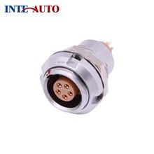 цена на China factory supply high quality compatible 1B  Metal circular precision connector,  ECG.1B.305, 5 pins receptacle