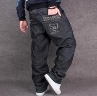 Fashion Tide Jeans Mens Loose Leisure Big Size 42 44 Hip Hop Man's Jeans Plus Size Cowboy Denim Trousers men's wear 2017 New