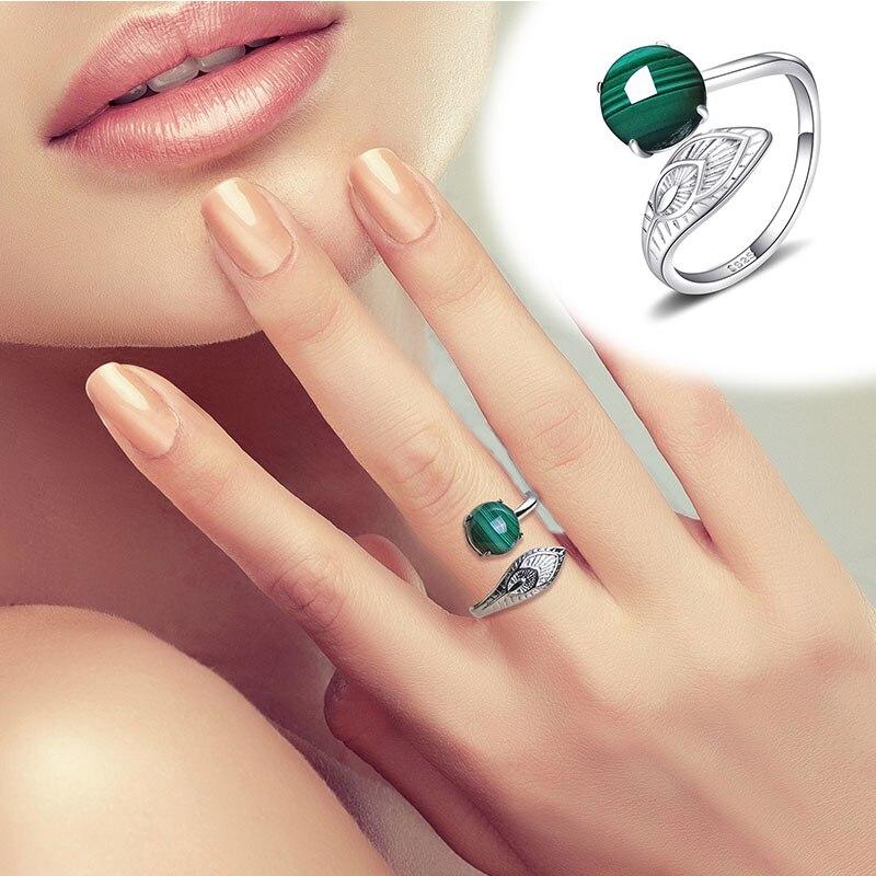 2020 limité nouveauté femmes Anel Masculino Anel anneaux Malachite naturelle S925 incrusté avec anneau femelle vivant cadeau de vacances