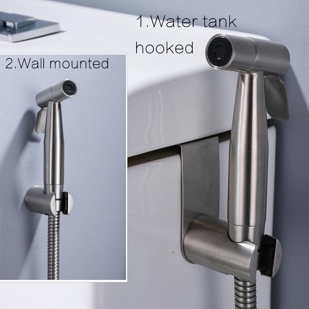 Ручной распылитель для биде, набор из нержавеющей стали, ручной биде кран для ванной комнаты, ручной распылитель, душевая головка, самоочищающаяся
