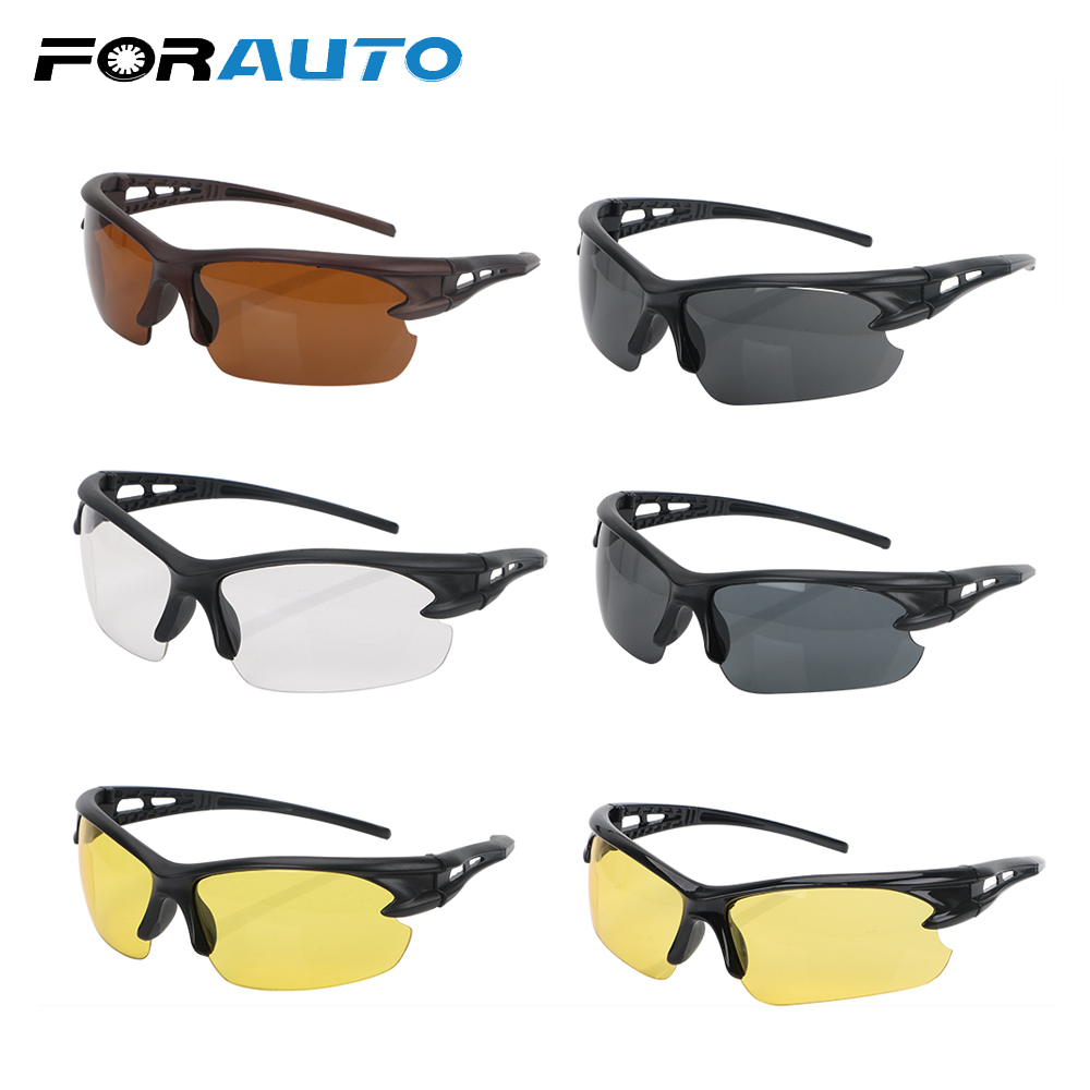 FORAUTO Insect Proof Night Vision Glasses Explosion-proof Sunglasses For Outdoor Riding Plain Glass Spectacles Windproof