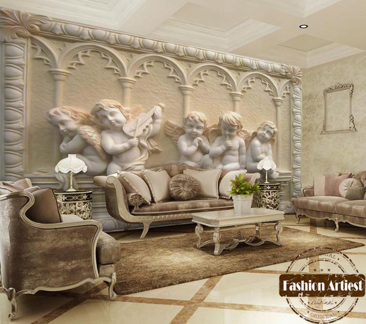 Buy custom classic 3d wallpaper mural for Ancient roman interior decoration
