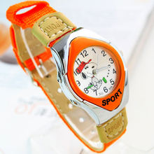2016 New arrivel Fashion Cartoon Watches Casual Children Boys Kids Stud