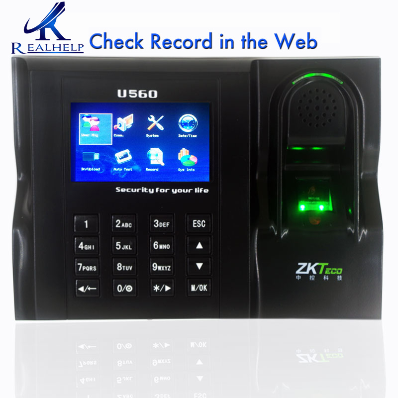 Free Software Web IE Server Browse Record ZKTeco U560 ZK Fingerprint Time Attendance RS232/485 TCP/IP