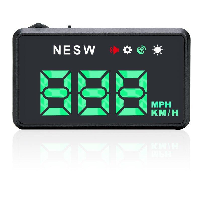 imágenes para F206 Colorido Universal Car GPS Head UP Display HUD Velocímetro Velocidad Proyector Proyector en El Parabrisas Del Coche de Alarma de Exceso de velocidad