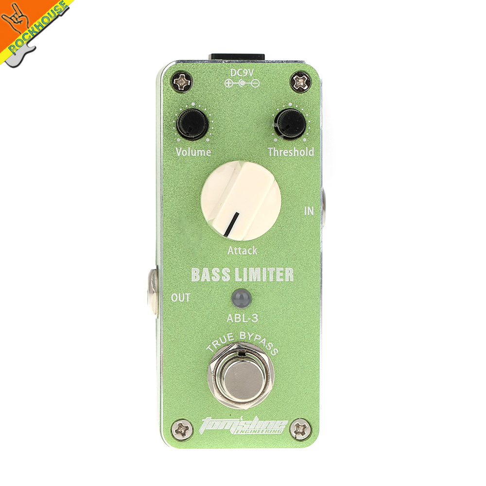 ФОТО Aroma ABL-3 Bass Limiter Effect Pedal Bass compressor reduce redundant dynamics output Aluminum Alloy shell Free shipping