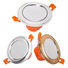GD 6W Dual Color LED Ceiling Downlight 3 Colors changeable Lamp 220V WW+CW