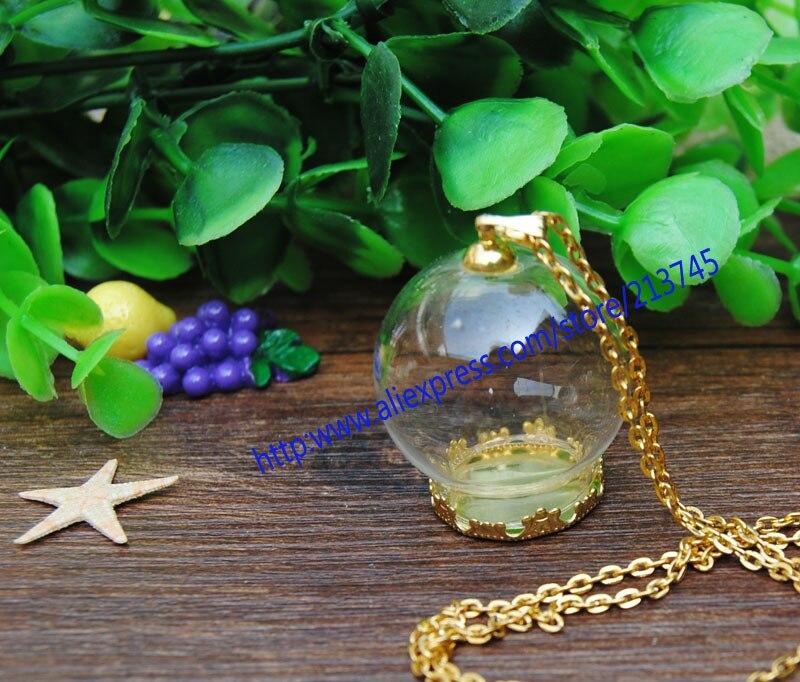 ᗑ】Envío Gratis! Nueva 30*20mm DIY burbuja de cristal y oro bandeja ...
