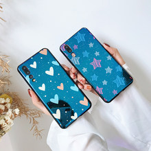 Blue light phone Cases For Huawei P30 P20 P10 Pro Lite Nova 3E Star love heart glossy soft cover For Honor 8 9 10 back fundas(China)