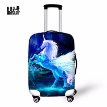 "Купить с кэшбэком luggage covers unicorn design prints cover suitable for 18""-32"" inch case high elastic material cover for trolley"
