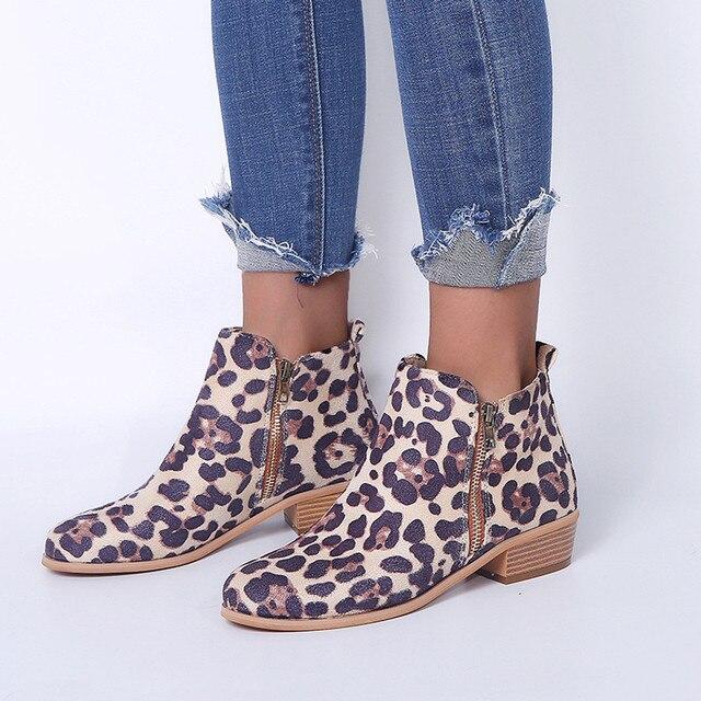 YOUYEDIAN Kadın Ayak Bileği kısa çizmeler Şövalye Bayanlar Süet Martin Çizmeler Ayakkabı Fermuar Çizme sapato feminino konfor vel # a35