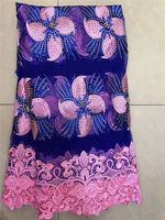 Superior Quality Embroidery French lace African Mesh Tulle Lace Fabric With Stones And Beads High Quality 5 Yards/PC 30