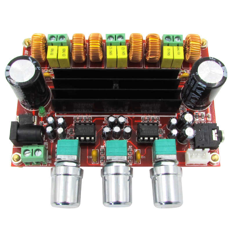 のmanufactor 2.1チャンネルデジタルパワーアンプボード12ボルトの24ボルト広い電圧2*50ワット+ 100ワットtpa3116d2