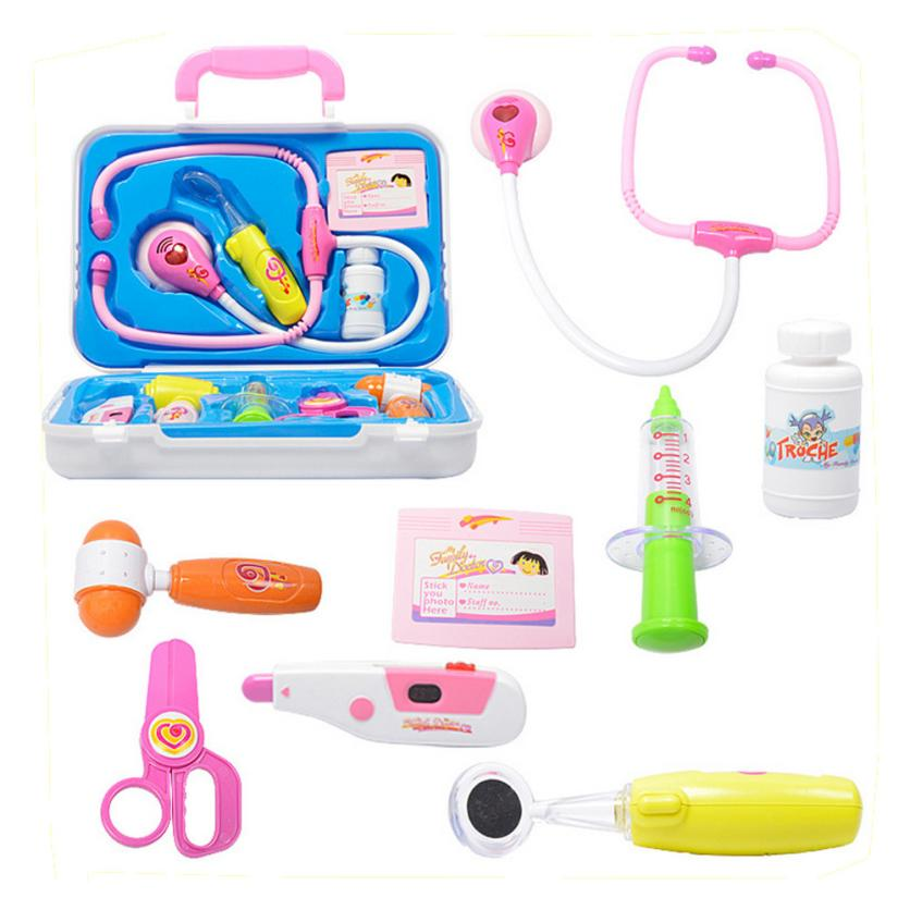 Pretend Play 10pcs Kids Baby Doctor Medical Play Carry Set Case Education Role Play Toy Kit Pretend Play D40+