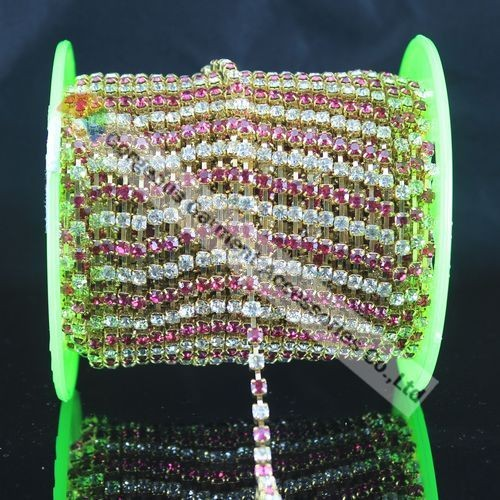 10yd SS16 4 мм фуксия прозрачного хрусталя альтернативный Чешский горный хрусталь цепь золото серебро DIY Browband одежда, свадебное платье, свадебное платье