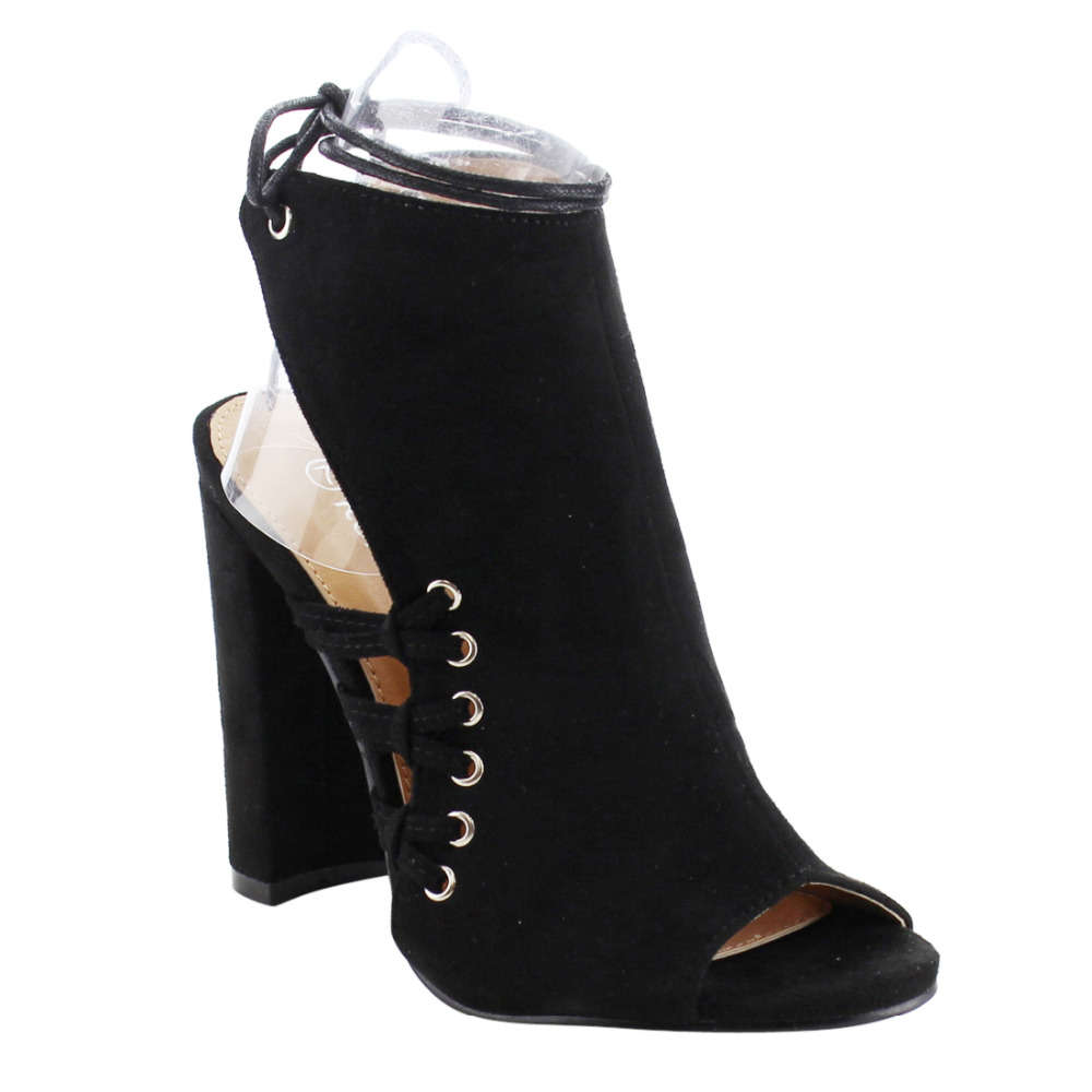 Luxury Womens Black Lace Up Dress Shoes