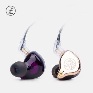 Image 3 - 2019 את ריחני ציתר TFZ T2 שלב אוזניות 2Pin מתכת לוחית HIFI צג IEM 3.5mm באוזן ספורט מוסיקה דינמי DJ Earbud