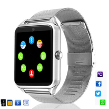 Z60 Смарт-часы GT08 плюс металлический ремешок Bluetooth наручные Smartwatch Поддержка Sim TF карта Android и IOS нескольких языков PK S8 V8 Y1 X7D