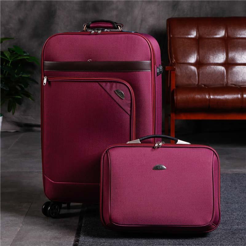 Letrend 남자 비즈니스 회 전자 롤링 수하물 세트 여성 비밀 번호 가방 바퀴 20 인치 운반 트롤리 노트북 여행 가방-에서여행용 가방부터 수화물 & 가방 의  그룹 3