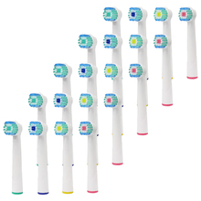 20pcs Oral B  Electric Toothbrush Replacement Heads Model Battery Soft Tooth Bristles for Dual Clean Complete Brush Head цена и фото