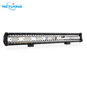 """Image 1 - MICTUNING 20"""" Five Row Car LED Straight Work Light Bar 126W Combo Beam Roof Driving Fog Lamp 10500LM for SUV Motorcycle Offroad"""