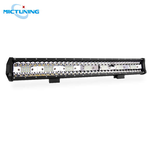 """MICTUNING 20"""" Five Row Car LED Straight Work Light Bar 126W Combo Beam Roof Driving Fog Lamp 10500LM for SUV Motorcycle Offroad"""