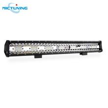 """MICTUNING 20 """"cinco filas de LED Barra de luz de trabajo recta 126W Combo viga techo conducción lámpara de niebla 10500LM para SUV motocicleta todoterreno"""