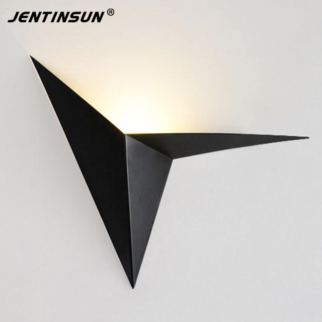 Modern 1w 3w led wall lights indoor triangle light aluminium modern 1w 3w led wall lights indoor triangle light aluminium background wall mounted lamp sconce for aloadofball Images
