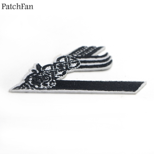 A0345 Patchfan Viking Embroidered Iron on Patches for Clothing DIY Clothes Appliques cosplay wallet bag shoes patches Sticker