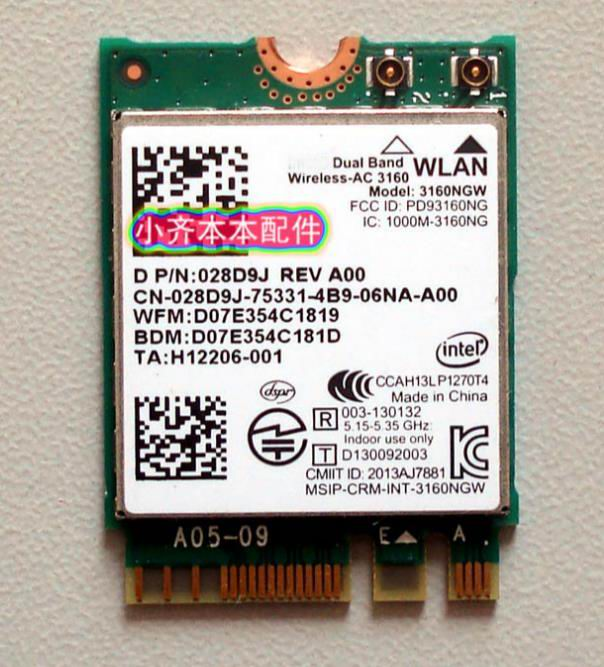 New for Intel Dual band Wireless-AC 3165 <font><b>3165NGW</b></font> 3165 AC intel3165 BT4.2 433Mbps 802.11ac Wireless Network Card image