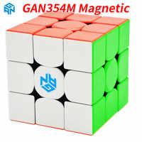 GAN 354 M 3x3x3 cubo mágico sin adhesivo con magnético Gan 354 M rompecabezas Cubo de velocidad para juguetes profesionales Cubo Magico Gan354M de WCA