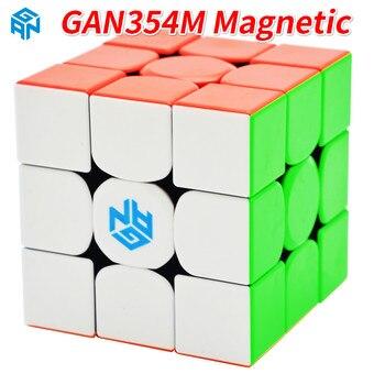 GAN354M 3x3x3 магический куб без наклеек с магнитным ганом 354 м головоломка скоростной куб для WCA Профессиональный Cubo Magico Gan 354 м игрушки