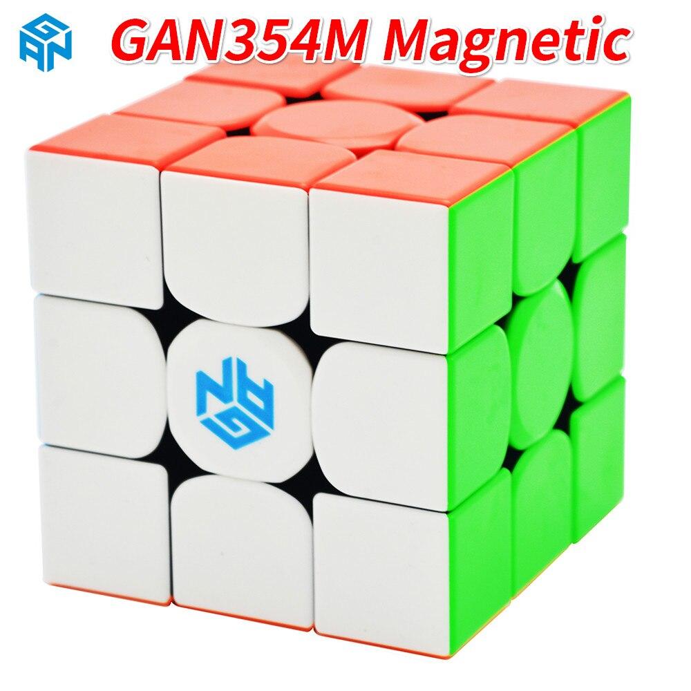 GAN354M 3x3x3 Magic Cube Stickerless Avec Magnétique Gan 354 M Speed Puzzle Cube Pour WCA Professionnel cubo Magico Gan 354 M Jouets