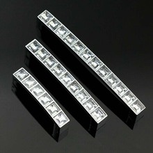 64mm clear acrylic furniture handles chrome cabinet drawer pull silver dresser cupboard door handle knob 2.5″