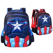 Hot 3D stereo Children s Backpack Boys Captain America School Bags For Boys  Girls Children Primary Students Superhero Backpacks bf0e3310255e3