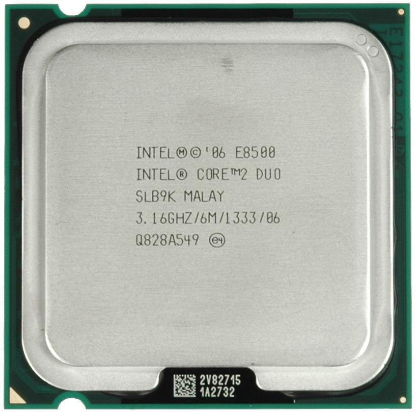 100% работает Intel Core 2 Duo E8500 процессор SLB9K slapk 3.16 ГГц 6 МБ 1333 мГц Socket 775 CPU