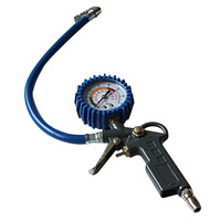 220PSI Car Air Tyre Pressure Tester Gauge Dial Meter Vehicle Inflation Gun Self Locking Pistol Grip