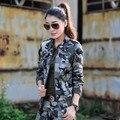 Mulheres Jaqueta 2016 Primavera Casacos de Algodão Do Vintage Mulheres Outono Casaco Jaqueta Feminina Plus Size 3XL Mulheres Jaquetas de Camuflagem