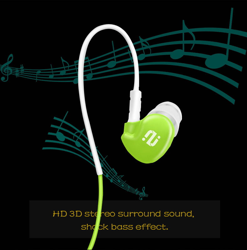 Original Ipsdi HF211 3.5mm Earphone Outdoor Sports Headset Wired MP3 MP4 Headphones Stereo Bass Headphone For Xiaomi