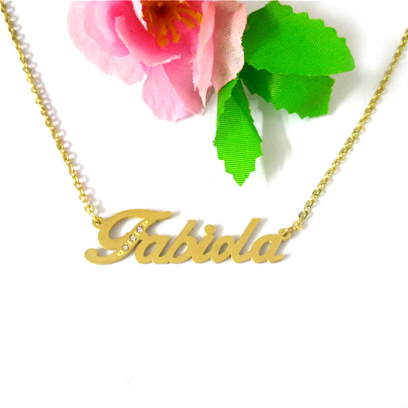 acaf99112 ... FairLadyHood Fabiola Custom Name Necklace Personalized Stainless Steel  Custom Pendants & Necklace For Lover Jewelry ...