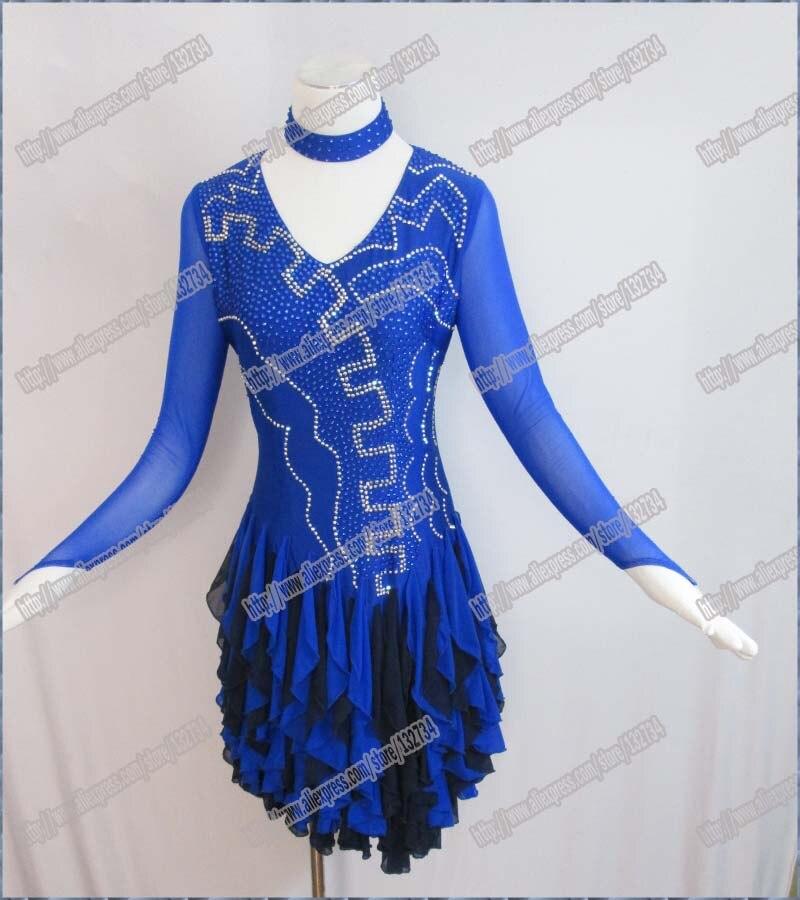 Сверкающие Для женщин туфли для латинских танцев платье для сцены платье с блестками женские латинские танцы платье пикантные блестки танц