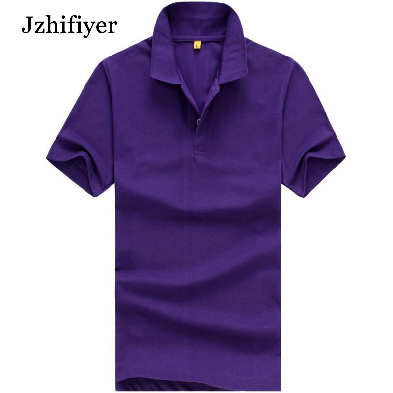 férfi póló póló körbevágó gallér üres pamut poliészter felső ing rövid ujjú férfi nagy póló ing egyszínű vékony