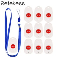 10pcs Emergency Call Button For the Elederly Hospital Patient SOS Transmitter Wireless Call Bell Pager 433.92MHz Calling System