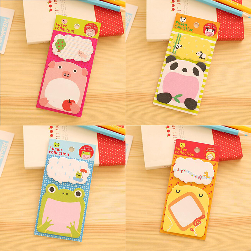 20 pcs/lot Creative Stationery Forest Animal Series Cute Paper Memo Pad / Sticker Post Sticky Notes Notepad School Office Supply