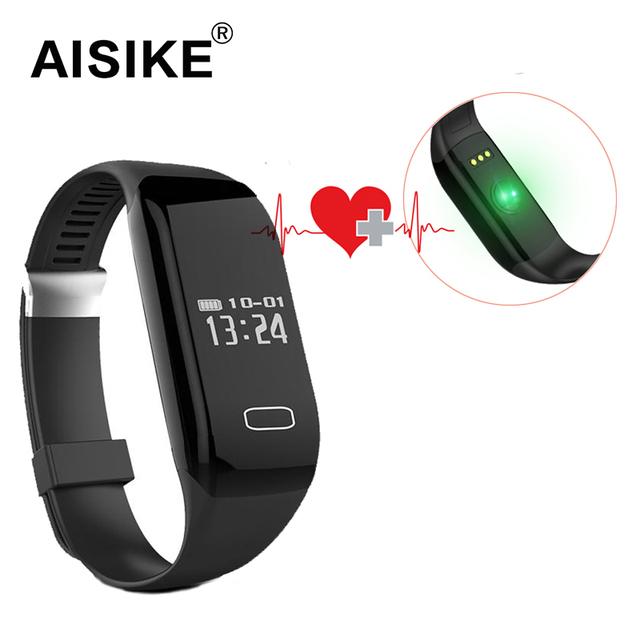 AISIKE H3 Bluetooth 4.0 Pulsera Inteligente Podómetro Monitor Del Ritmo Cardíaco Para Dormir Táctil Pulsera Smartwatch Smartband aptos poco inteligente