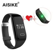 AISIKE H3 Bluetooth 4,0 Smart Armband Schrittzähler Herzfrequenz Schlaf Monitor Armband Touch Smartwatch Smartband fit bit smart