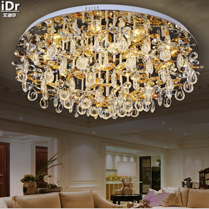 Europischen Kristall Lampe Wohnzimmer Schlafzimmer Restaurant Lichter Kreisfrmige LED Angebote Deckenleuchten Rmy 0108