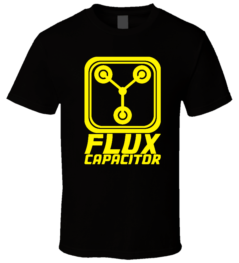 Flux Capacitor - Back To The Future 3 New Hot Sale Black Men T Shirt S - 3XL Men 2018 Brand Clothing Tees Casual Top Tee
