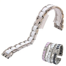 19mm * 17mm Ceramic with Steel watchband for Swatch YLS141GC YLG128G LK292G Special end watch bands Straps Bracelet
